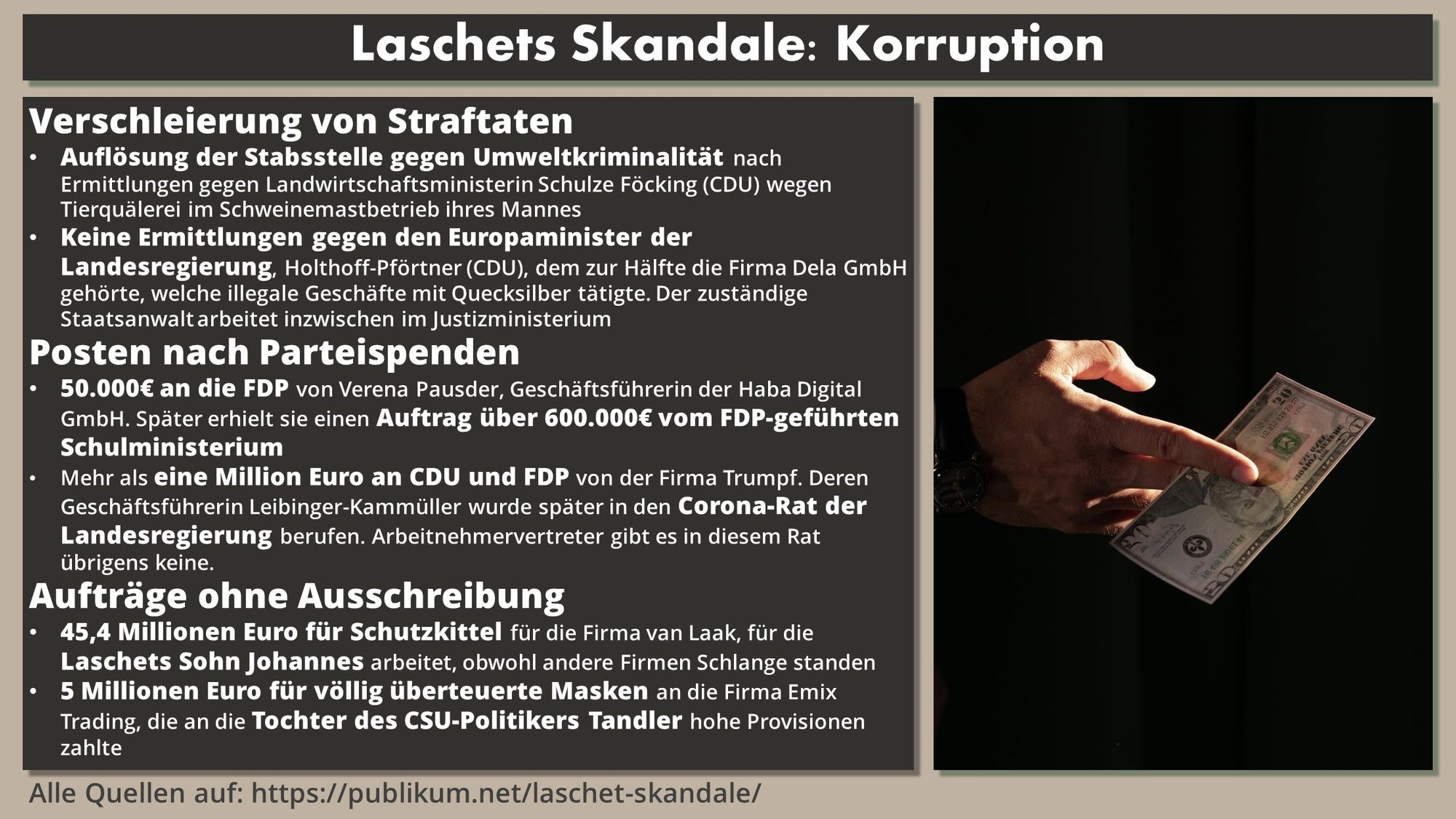 Laschet Skandale Korruption