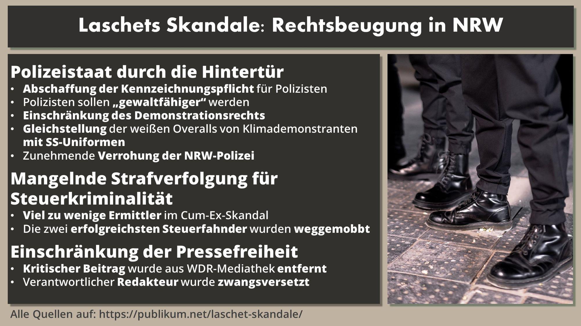 Laschet Skandale Rechtsbeugung
