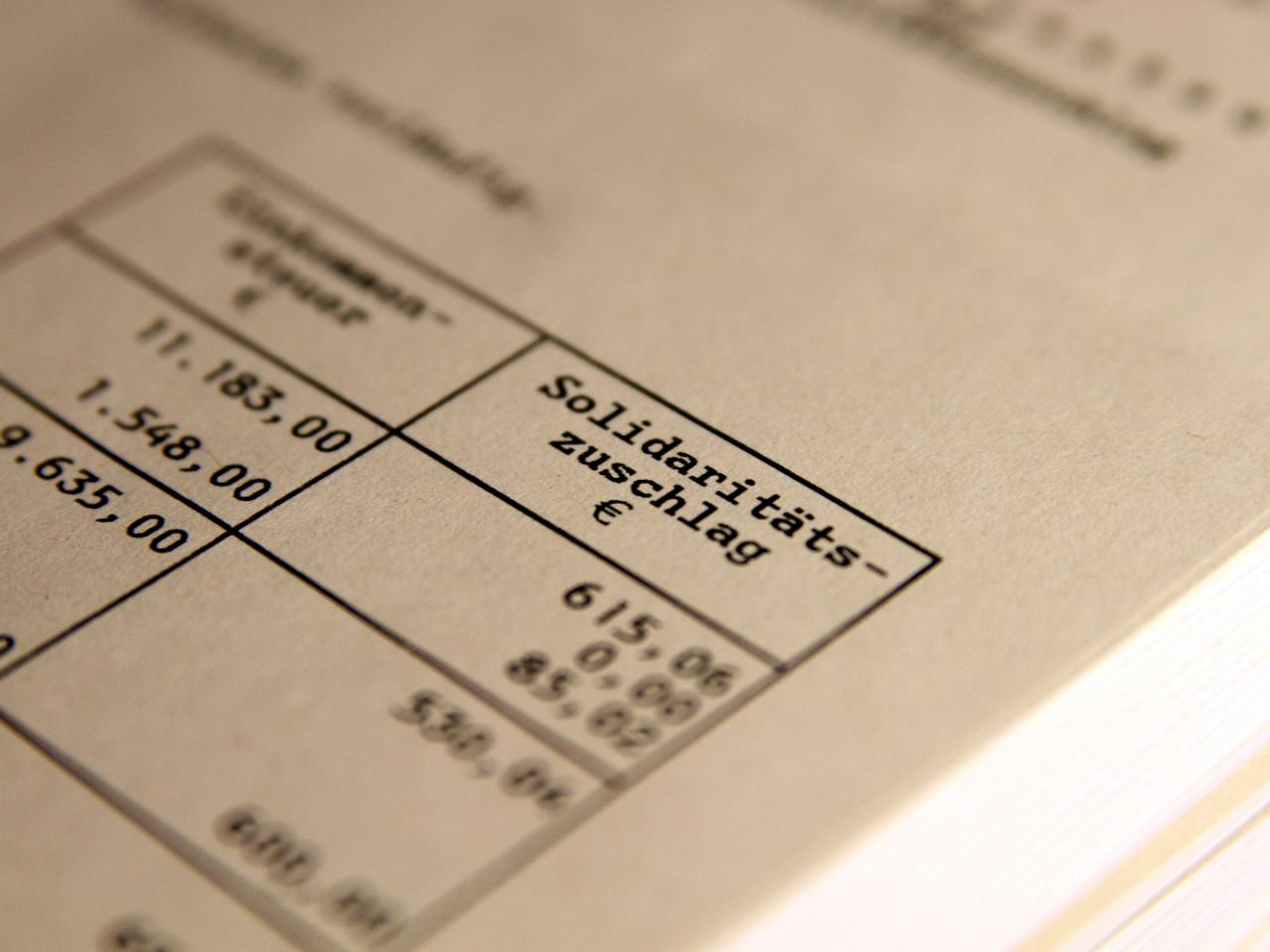 Finanzministerium: Soli-Entlastung für 24,7 Millionen ...